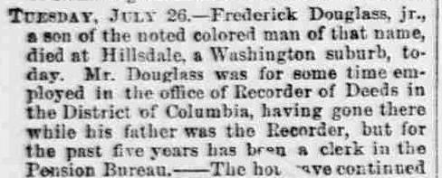the life and death of frederick douglass But in his last memoir, life and times of frederick douglass (1881),  douglass  memorial and historical association following his death in.