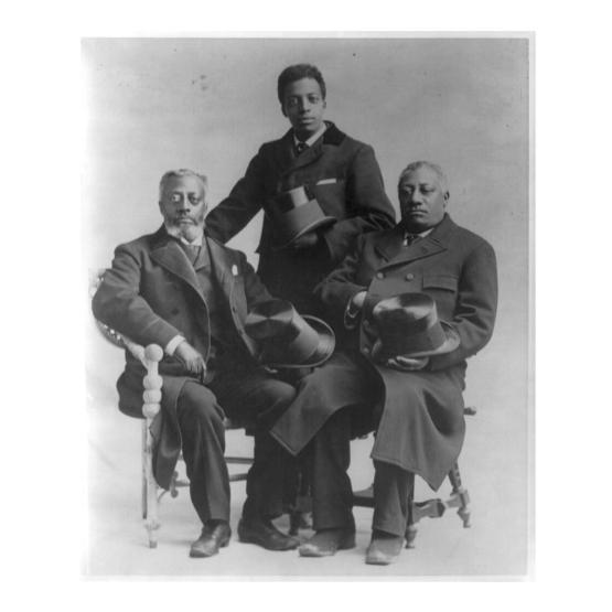 L-R_Charles Douglass, Joseph Douglas, Lewis Douglass. Courtesy LOC
