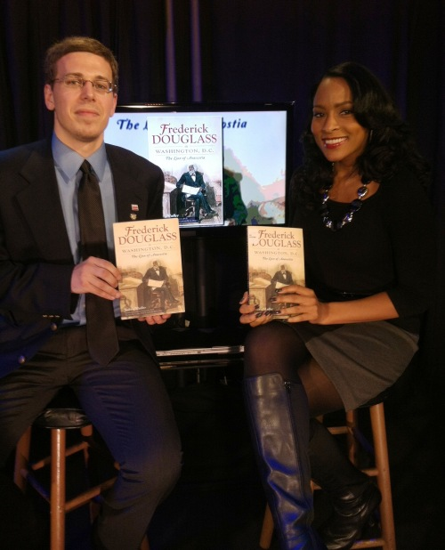 John Muller joins WRC-NBC4's Danella Sealock in studio to discuss his new book. Courtesy of John Muller.