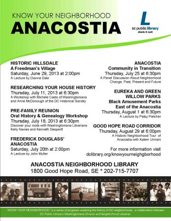 Know Your Neighborhood _ Anacostia (DCPL)