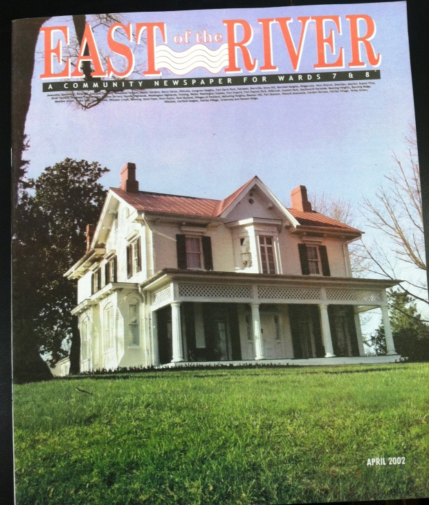 East of the River _ cover April 2002