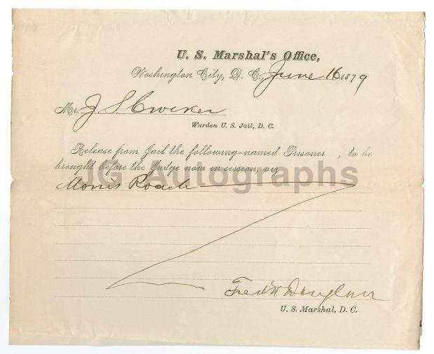 Frederick Douglass jail document