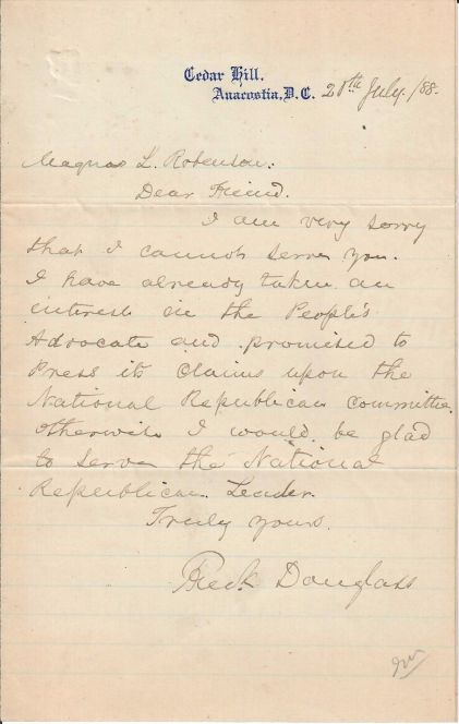 FD to Magnus L Robinson _ 7.20.1888