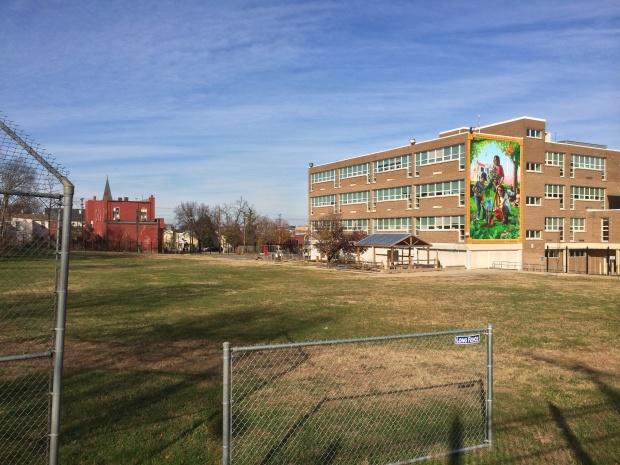 Cedar Hill mural __ Ketcham ES & Wash monument