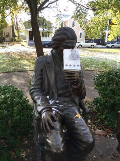 FD statue in Rochester _ Leigh Fought book