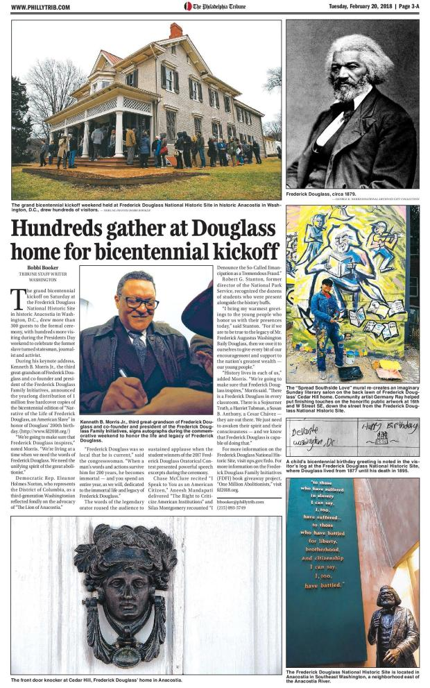 Philly Tribune _ Frederick Douglass Coverage 22018-page-001