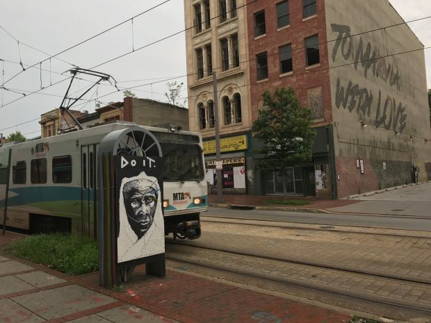 FD Murals _ North Howard St_LightRail_HarrietTubman on Electric Box
