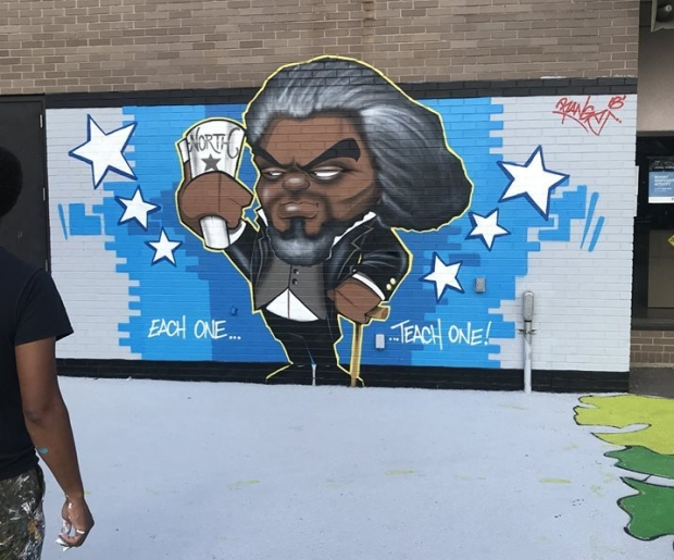 FredDouglass mural - North Star _ 900 South Avenue in Rochester