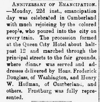 Frostburg Mining Journal _ 27 Sept 1879 _ p. 3 _ FD in Cumberland _ cropped