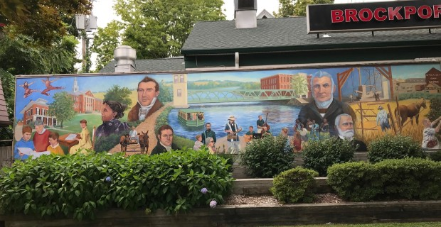 Portraits of Our Past Mural _ Brockport, NY _ Pan