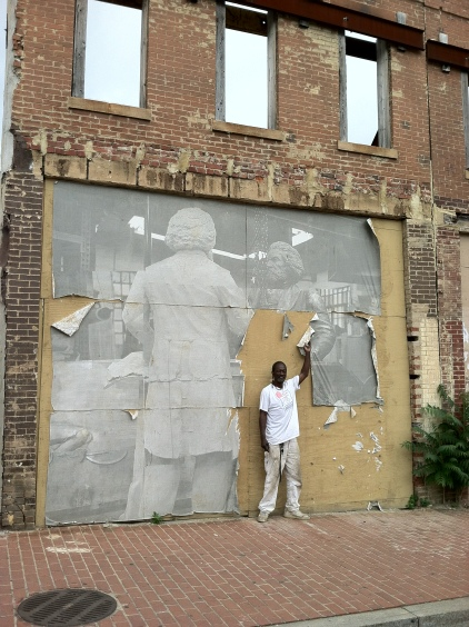 William Alston-El - Frederick Douglass wheat paste on lower MLK