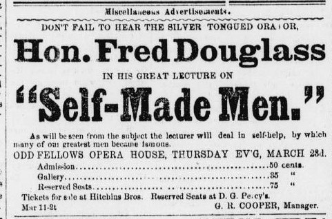 Frostburg Mining Journal _ March 18, 1882, p. 2 _ FD ad