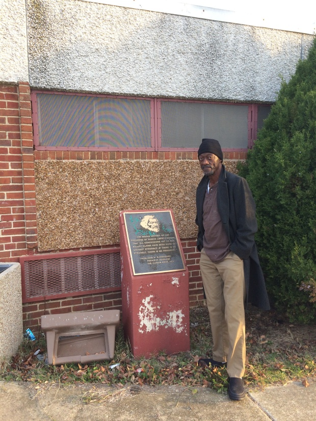 William Alston-El by vacant Frederick Douglass Community Center -- Alabama Ave SE